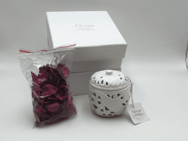 scatola in porcellana porta pot-pourri Morena