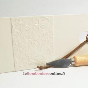 tagliere in porcellana con coltellino Claraluna