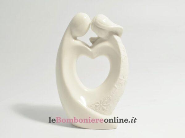 coppia in porcellana con cuore Claraluna