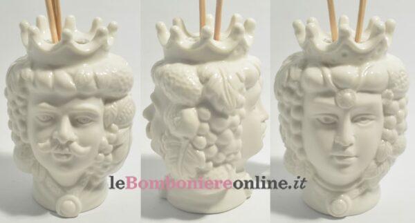 vaso con testa di moro in porcellana Claraluna
