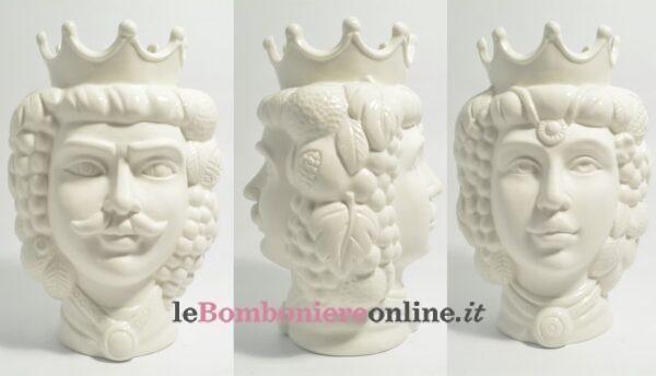 vaso in porcellana testa di moro Claraluna