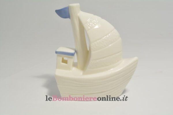 barca in porcellana con led Claraluna