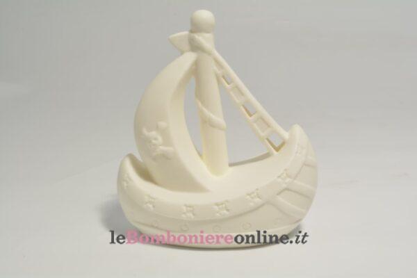 galeone in porcellana con led Claraluna