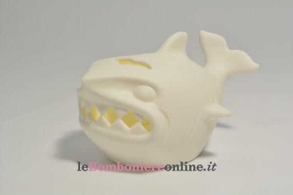 squalo in porcellana con led Claraluna