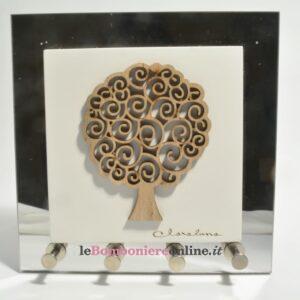 quadro appendi chiavi con albero della vita Claraluna