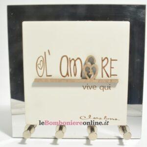 quadro appendi chiave con scritta amore Claraluna