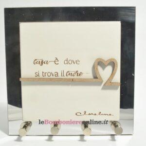 quadro appendi chiavi con scritta casa Claraluna