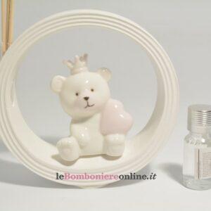 diffusore con orsetto in porcellana Claraluna