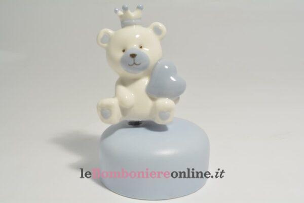 carillon con orsetto in porcellana Claraluna