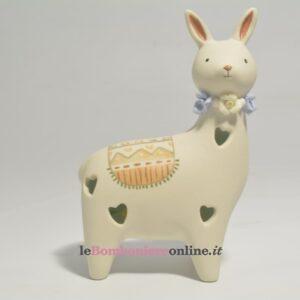 alpaca in porcellana con led Claraluna