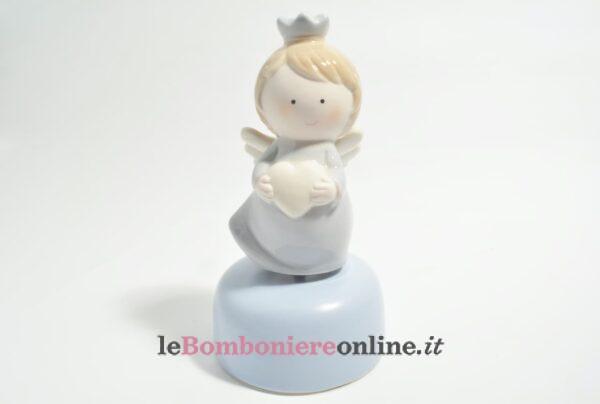 carillon con angelo in porcellana Claraluna
