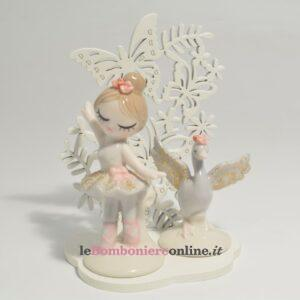 ballerina e cigno in porcellana Claraluna