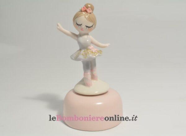 carillon con ballerina in porcellana Claraluna