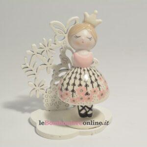principessa in porcellana con supporto Claraluna