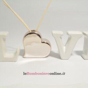 diffusore in porcellana con scritta Love Claraluna
