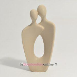 coppia in porcellana tortora piccola Claraluna