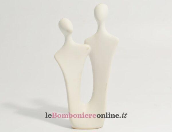 coppia in porcellana bianca media Claraluna