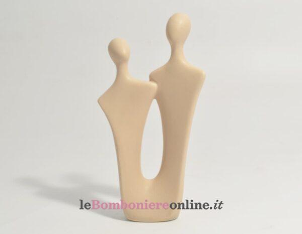 coppia in porcellana tortora Claraluna