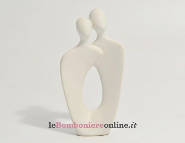 coppia in porcellana bianca grande Claraluna