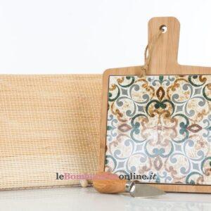 tagliere in legno e porcellana Cuorematto