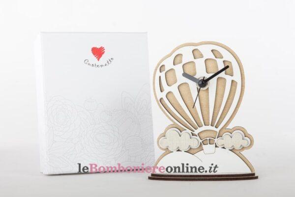orologio in legno mongolfiera Cuorematto