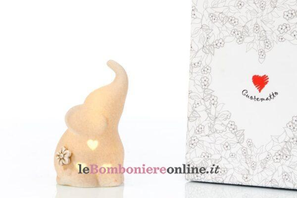 elefantino in porcellana con led