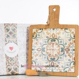 tagliere in legno e ceramica Cuorematto