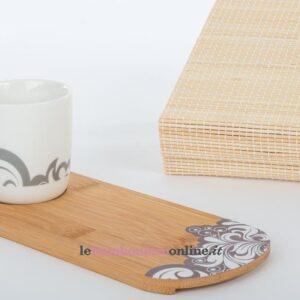 tazzina caffè con vassoio in legno Cuorematto