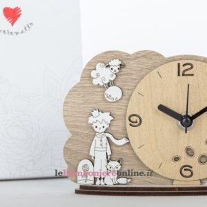 Orologio in legno principino Cuorematto