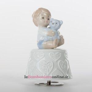 carillon con bimbo e orsetto Morena