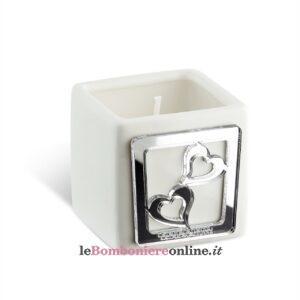 Porta candela argento linea Astrid Debora Carlucci