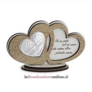Icona cuori legno anniversario Debora Carlucci
