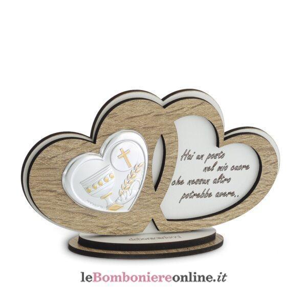 Icona cuori legno Comunione Debora Carlucci