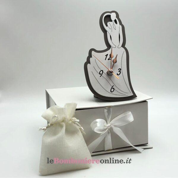 Orologio sposi in legno Mariella Martini