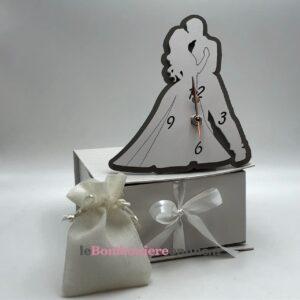 Orologio sposi in legno