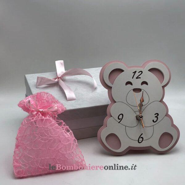 Orologio orsetto in legno Mariella Martini