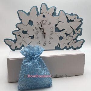 Orologio in legno con farfalle Mariella Martini
