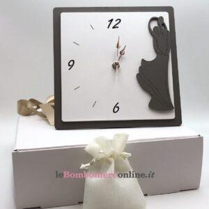 Orologio in legno con sposi Mariella Martini