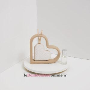 Profumatore Claraluna cuore in porcellana