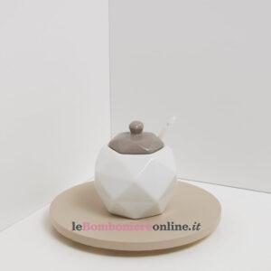 Zuccheriera in porcellana Claraluna