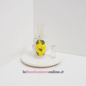 profumatore testa di moro doppia faccia decoro limoni Claraluna
