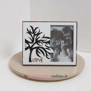 Portafoto con decoro albero e scritta love Claraluna