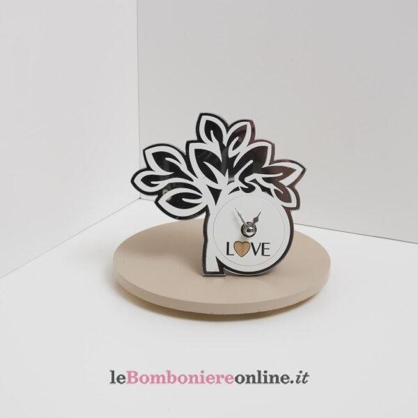 orologio albero con scritta love Claraluna