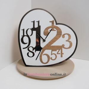 orologio forma cuore Claraluna