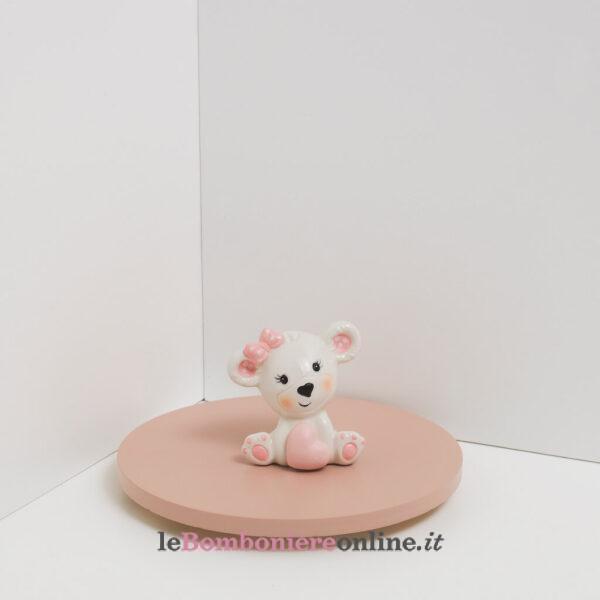 orsetto porcellana rosa Claraluna