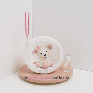 diffusore con orsetto porcellana rosa Claraluna