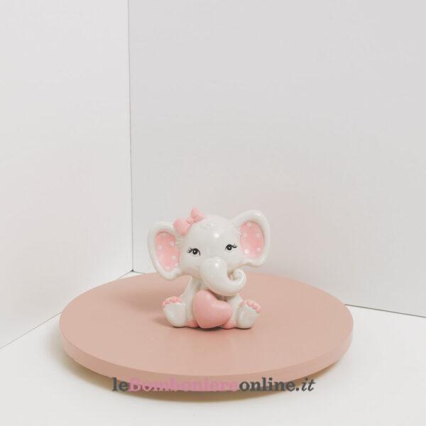elefantino in porcellana rosa Claraluna