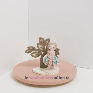 ballerina in porcellana con supporto in legno Claraluna