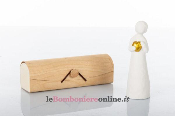 Bimba in porcellana con cuore d'oro Cuorematto