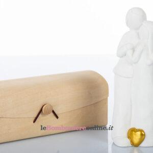 Sposi in porcellana con cuore d'oro Cuorematto